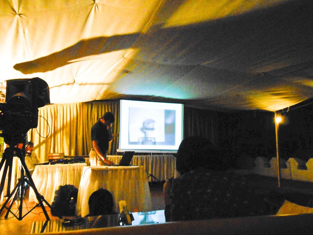 Sanjay Sane presenting on Insect Behaviour at #csblr, NCBS, Bangalore