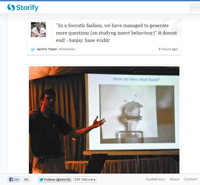 Storify page for tweets from #csblr