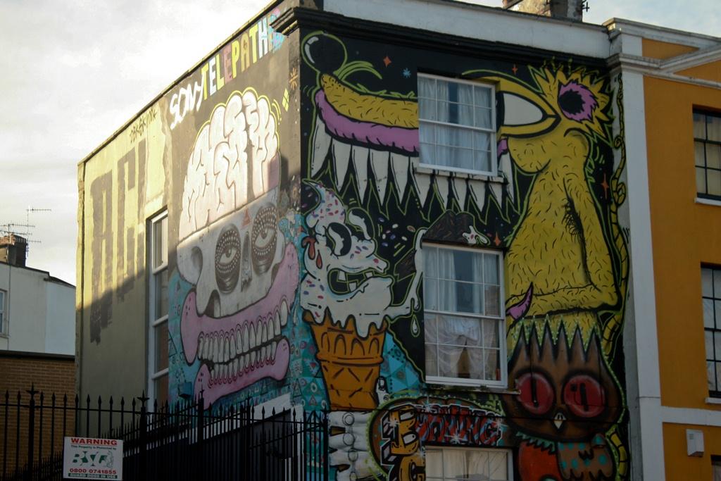 Street art on a London street (Photo: Praveena Sridhar)