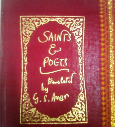 Book Cover: Poets & Saints, Translated by G. S. Amur