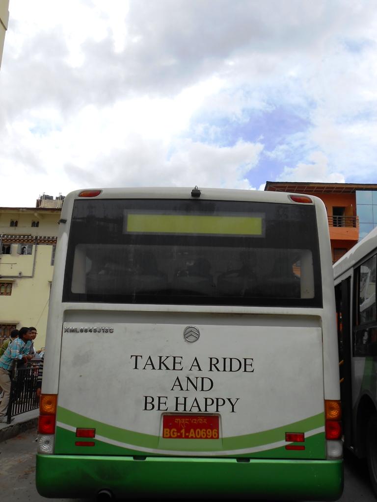 A city bus in Thimpu, Bhutan