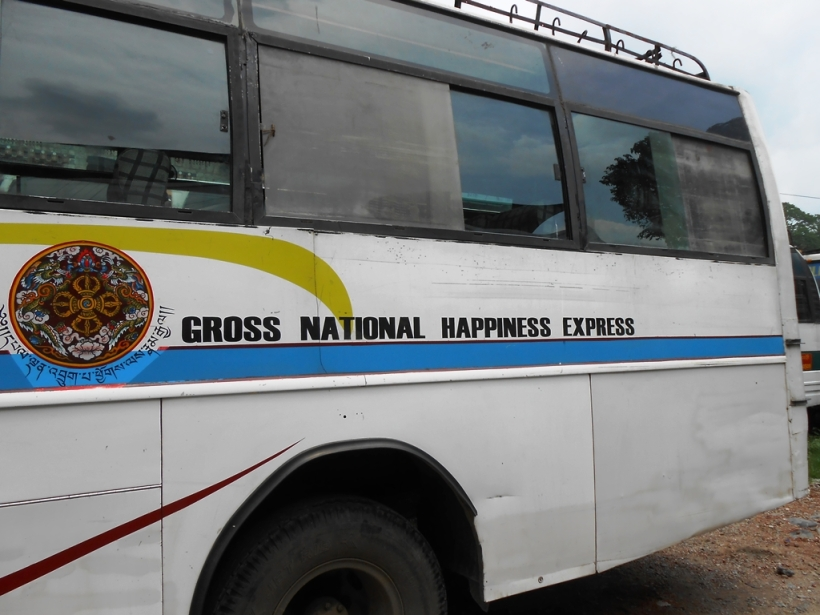 The bus operated by Royal Government of Bhutan connecting Kolkata, India to Phuentsholing, Bhutan
