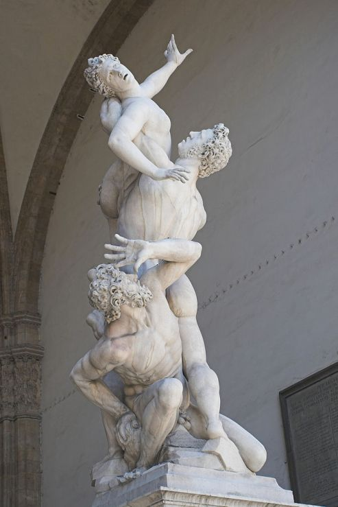 "Sculptor Giambologna's ""Rape of Sabine Women"". Just as he delighted in solving the complex spatial problems of three intertwined figures in this famous sculpting, detached from the nature and act, the theoretical exercise too appears the same. (Image: Wikipedia)"