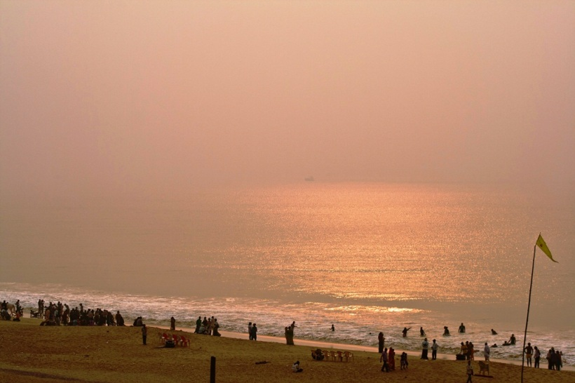 A quiet and serene morning four weeks after cyclone Phailin. Puri, Odisha