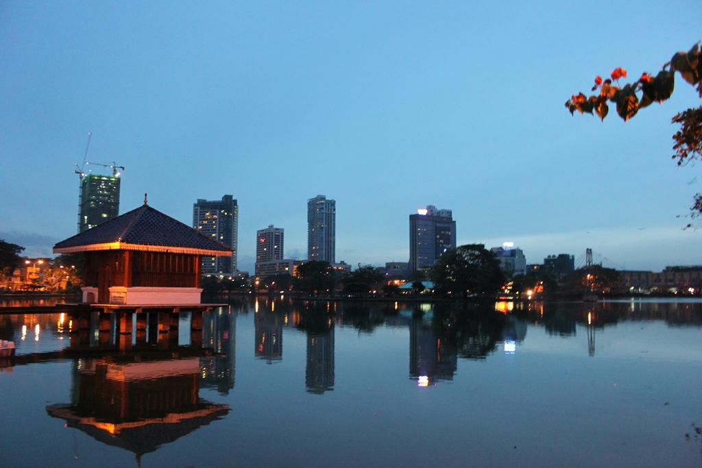Colombo appears busy late in the evening which is unlike pre-war days