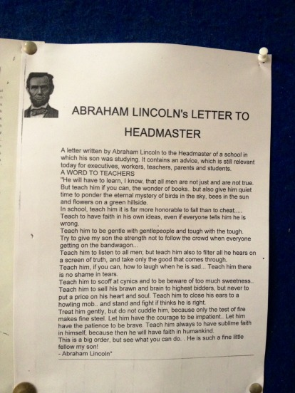 From the notice board of the university. Those who share this, perhaps are content with only reading it.