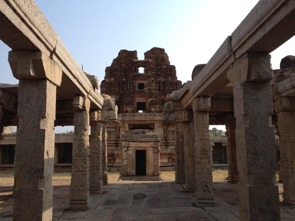 An almost crumbled temple from the Hampi cluster.