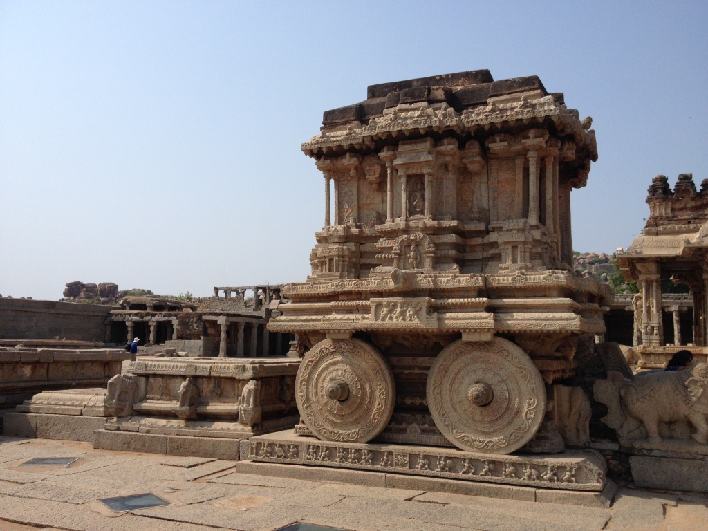 A structure within the Vitthala temple, one of the best kept in the Hampi set of ruins.