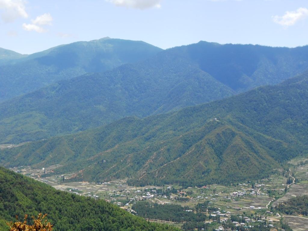 Paro valley as seen from Taktsang Monastery, Bhutan