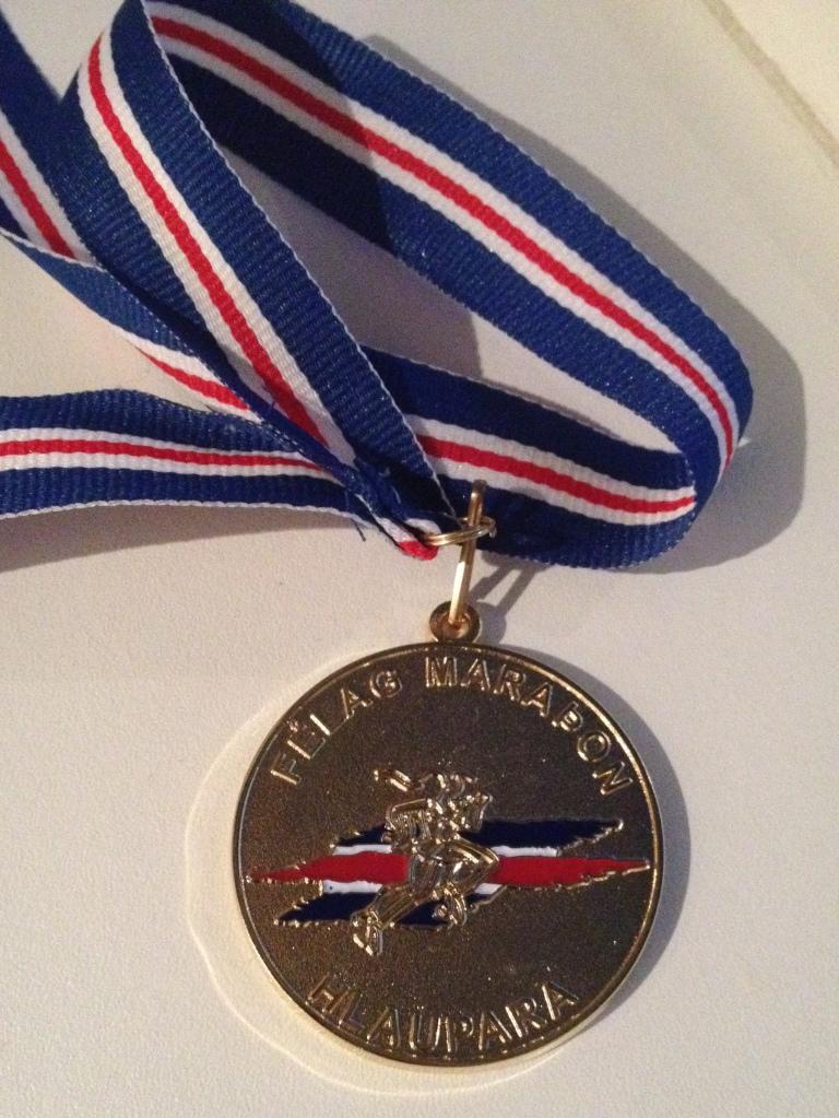 Reykjavik Autumn Marathon, 2016, full marathon finisher medal